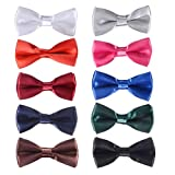 inSowni 8/10 Pack Elegant Adjustable Pre-tied Bow Tie for Baby Boy Kids Children (10PCS S2)