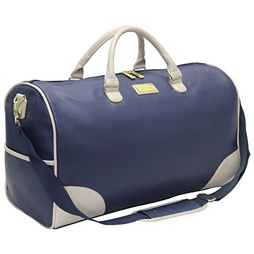Nicole Miller Sharon City Duffel Bags (Cream/Navy)