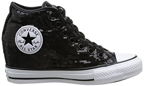 Mid Sequins Converse Black Sneaker Star Donna Sequins All Lux qvxFaPwv