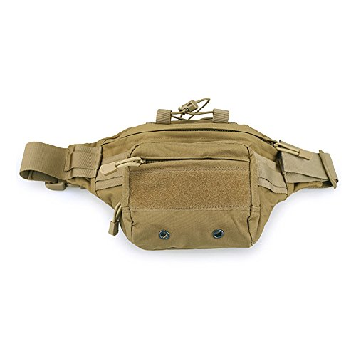 Happy Hours - Waterproof 800d Oxford Fabric Utility Oudoor Bag Tactical Fanny Pack Sling Waist Pouch Sport Molle Camping Travel Hiking Trekking Bag 4 Colors Available Khaki (Hoverboard Falls Christmas)