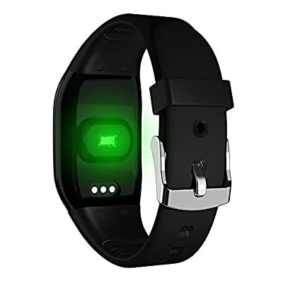 DEXUNWEI Fitness Tracker with Heart Rate 608HR 0.66 OLED 4.0 Bluetooth IP67 Waterproof and Dustproof Sports Wristband Sleep Monitor Flip Screen for Android and IOS