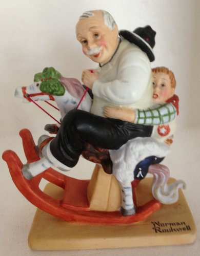 Norman Rockwell Danbury Mint 1980 Figurine Gramps At the Reins