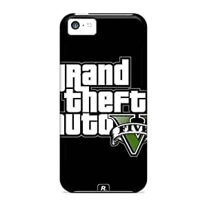 Ultra Slim Fit Hard Saraumes Case Cover Specially Made For Iphone 5c- Gta 5 Poster