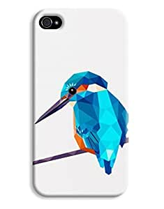 Geometric Kingfisher Bird Digital Design For Ipod Touch 5 Case Cover Hard
