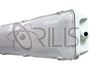 ORILIS 72W Commercial Outdoor Integrated Hardwired 4 Ft. Vapor Tight Water Resistant Anti-Fogging LED Fixture IP65 - 4500K - 7,000 - 9,000 Lumen