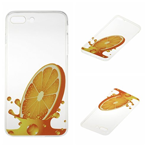 Voguecase® für Apple iPhone 7 Plus 5.5 hülle, Schutzhülle / Case / Cover / Hülle / TPU Gel Skin (Orange) + Gratis Universal Eingabestift