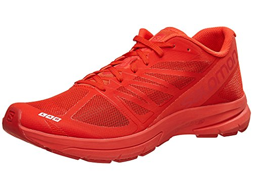 Salomon Unisex S-Lab Sonic 2 Running Sneakers, Red Manmade, Mesh, 8.5 D by Salomon