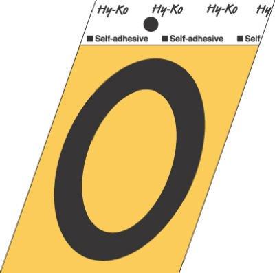Hy-Ko GG-25/0 3.5'' Black & Gold #0 Self-Adhesive Aluminum Number