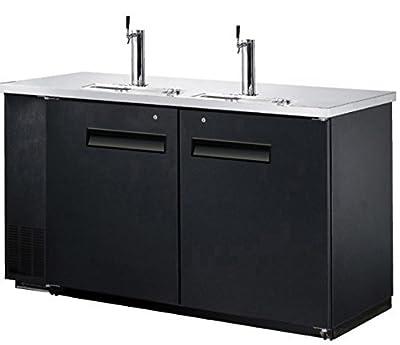 "60"" Dual Tap Keg Beer Can Bottle Dispenser Refrigerator Stainless Steel Top UDD-24-60, Kegerator Fridge"