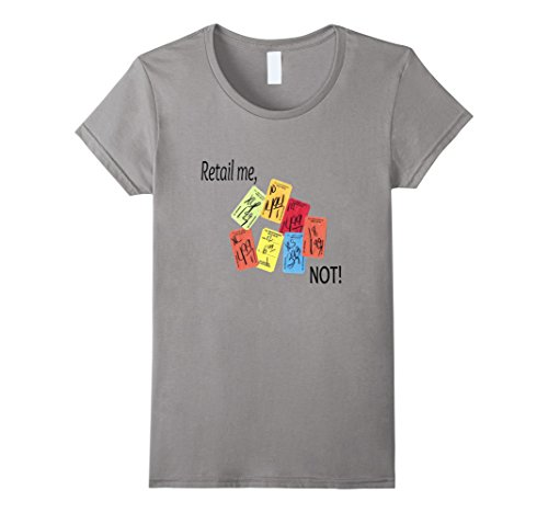 Womens Retail Me  Not  Thrift Shoppers T Shirt Small Slate