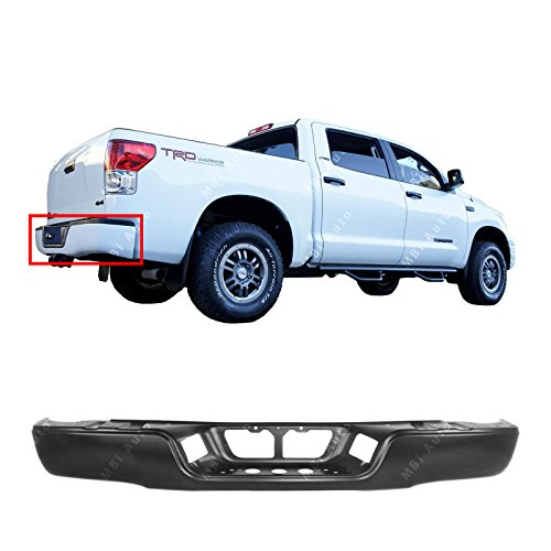 MBI AUTO Primered, Steel Rear Bumper Face Bar for 2007-2013 Toyota Tundra Pickup 07-13, TO1102248