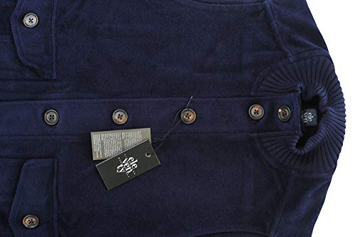 Uomo Casual Eleventy Blu Gilet Scuro Cotone S 65aqOwC