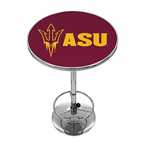 NCAA Arizona State University Chrome Pub Table by Trademark Gameroom