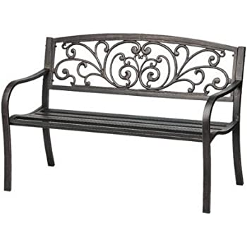 This Item Black Patio Bench   ON SALE!   2 Seat Outdoor Lawn U0026 Garden  Decoration Features A Durable Weather Resistant Black Antiqu
