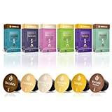Gourmesso Flavor Bundle - 60 Coffee Capsules Compatible with Nespresso Machines - 100% Fair Trade | Includes Vanilla, Caramel, Chocolate, Hazelnut, Coconut and Almond Flavored Espresso Pods