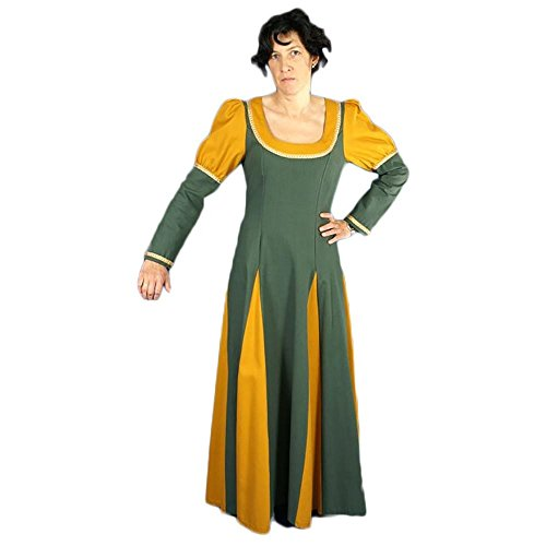 medievale Adelais donna Verde Senape Abito dqAagFzWgE