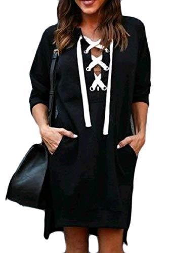 Sweat Long Black shirt Medium Babaseal Pure Femme Color Angrq7AF