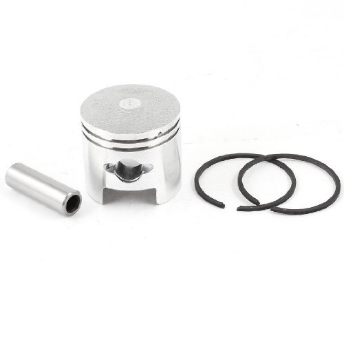 Silver Tone 40mm Dia Engine Air Compressor Piston Pin Ring Set (Pin Piston Set)