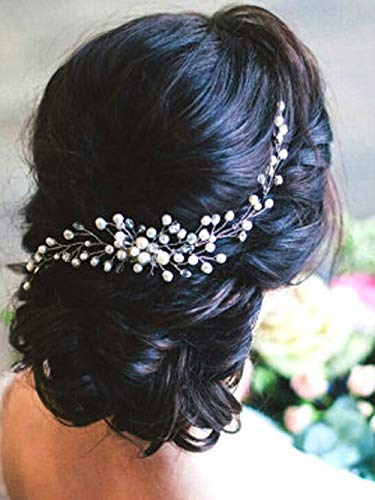 Decorative Hair Side Comb Vine Crystal Clips