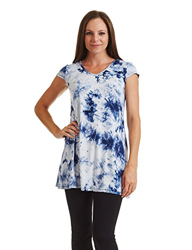Wdr1088 California USA Sleeve in Dress Together V Over Dye Shirt All Made navy Neck CTC Tie Cap white Womens T Come Cf5qUTwxw