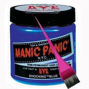 Manic Panic tinte de pelo – Vegan tinte de pelo – fucsia – Pincel para tinte color azul y rosa