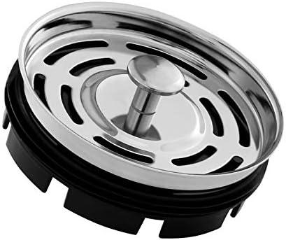 CLEESINK Kitchen Sink StopperBasket Strainer for Standard Drain or InSinkErator Garbage Disposal Stainless Steel 3 3/8 Inch