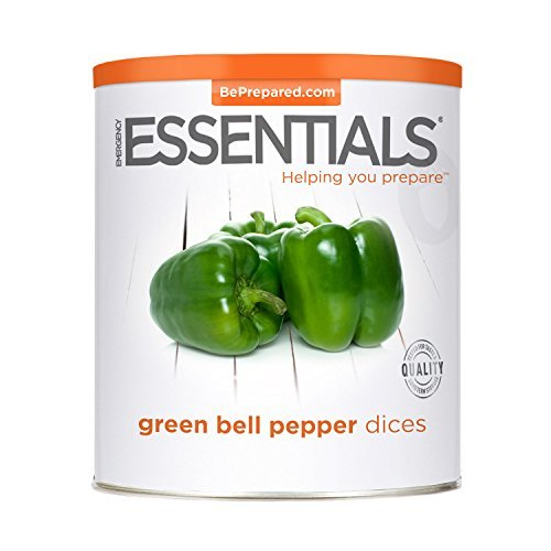 Emergency Essentials Freeze Dried Green Bell Pepper Dices - 4 oz