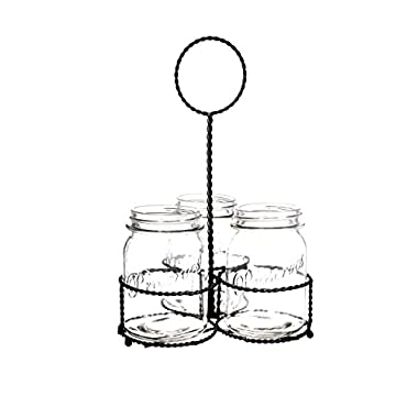 Home Essentials Del Sol Mason Jar Flatware Caddy
