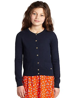 Amazon.com: Juicy Couture Girls Navy Blue Solid Cardigan, Front ...