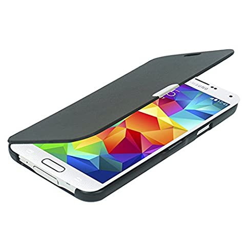 Galaxy S5 Case, MTRONX™ Magnetic Ultra Folio Flip Slim Leather Twill Case Cover Pouch for Samsung Galaxy S5 i9600 (Flip Cover Cases For Galaxy S5)