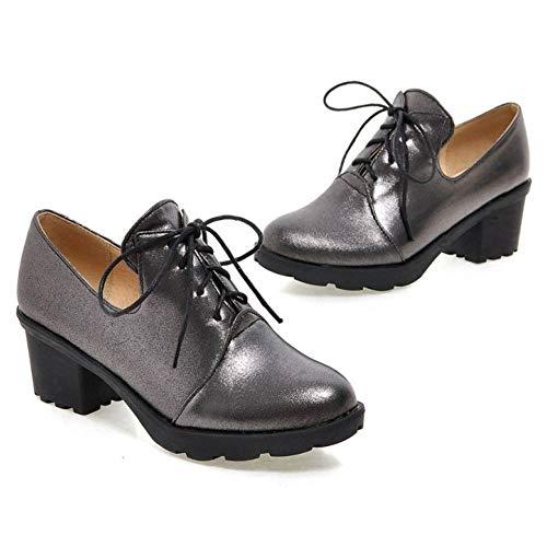Noir Ville de Lacets à Femmes Derbies Coolcept Chaussures tqTq0