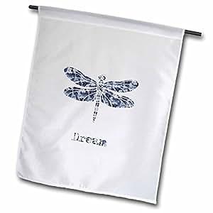 """3dRose fl_179156_1""""Dream Dragonfly"""" Garden Flag, 12 x 18"""""""