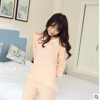 MH-RITA Nuevo coreano Otoño Invierno Algodón Womans pijamas pijamas Pijama casual femenino para la