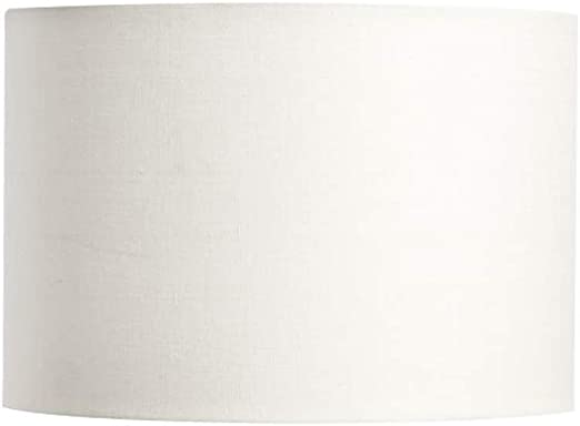 Jack Of All Shades Lamp Shade White Linen 16x16x14 Drum