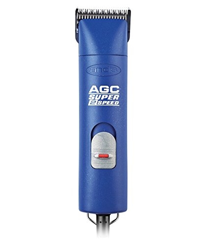 Andis Super 2-Speed Detachable Blade Clipper, Professional Equine amd Livestock Grooming, Blue, AGC2 (22445) ()