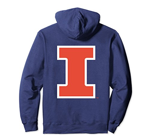 Illini Hoody Sweatshirts - Unisex Illinois Fighting Illini Women's College NCAA Hoodie RYLIL06 Small Navy
