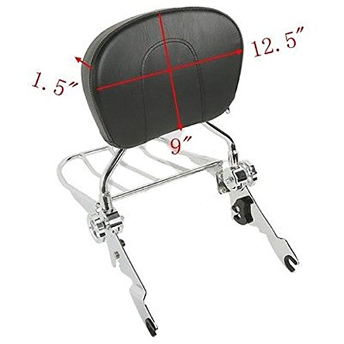 Backrest Sissy Bar & Luggage Rack For Harley Road King FLHR FLHT FLHX FLTR 09-Up