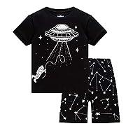 Huata Boys Pajamas Sleepwears 2 Piece 100% Cotton(18-24 Months, Airship)