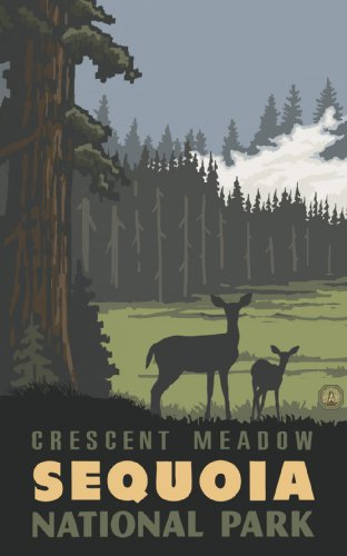Northwest Art Mall Sequoia National Park Crescent Meadow Artwork by Paul A. Lanquist, 11-Inch by - The Mall Meadows