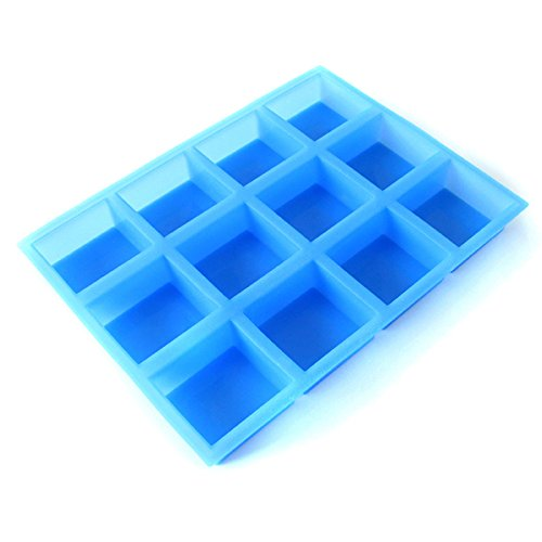 - Square Soap Mold 12-Cavity Loaf Bar Mould Handmade Swirl Making Tool