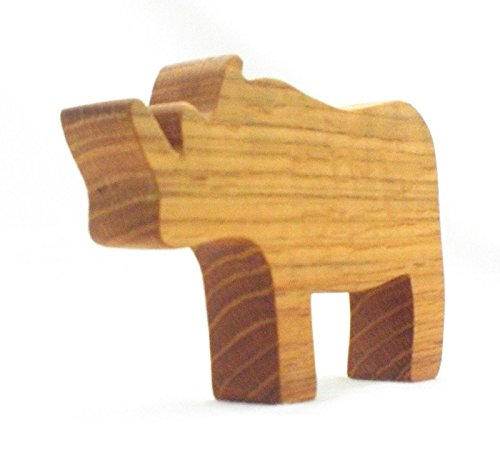 Handmade Wooden Toy Animal Rhino