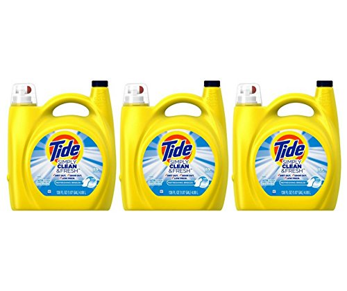Tide Simple Clean Fresh Liquid Laundry Detergent, 138 Ounce