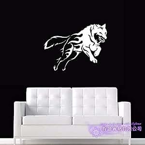 Etiqueta de la pared del lobo Tatuajes de arte de la pared ...