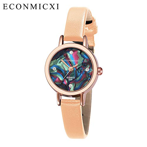Women Quartz Watch Leather Strap Waterproof Small Round Dial Stainless Steel Ladies Wristwatch (J, Free size) (Best Guitar Amp Sim 2019)