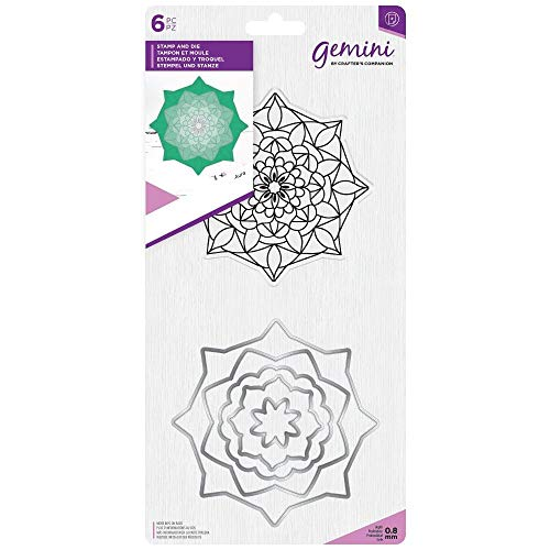 Crafter's Companion Gemini Mandala Paper Craft Stamp & Metal Die Set - Aura ()