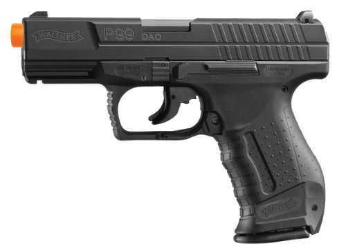 Umarex Walther 2262020 15 Rounds P99 Blowback Air Soft Pistol, 6mm, Black