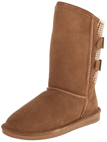 BEARPAW Women's Boshie Winter Boot, Hickory, 8 M US]()