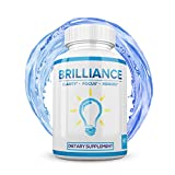 Brilliance - Premium Nootropic Brain Booster Supplement - Enhance Focus, Boost Concentration & Improve Memory | Mind Enhancement with Amino Acids & DHA for Neuro Energy & IQ - 30 Day Supply