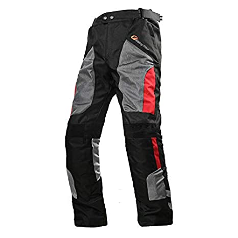 Xuba Unisex Summer Motorcycle Cycling Pants Mesh Motorcycle Pants Waterproof Breathable Racing Pants Dark Green L