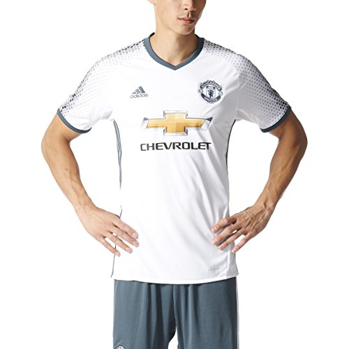 Adidas Mens 16/17 Manchester United Replica 3Rd Jersey (Small) White